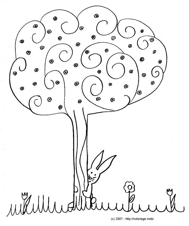 Coloriage et dessins gratuits Arbres et Fleurs en Automne à imprimer