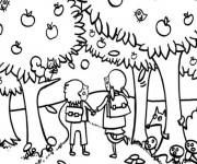 Coloriage et dessins gratuit Automne en couleur à imprimer