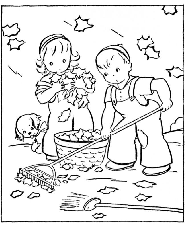 Coloriage Automne Maternelle à Colorier Dessin Gratuit à Imprimer
