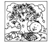 Coloriage et dessins gratuit Automne pour enfant à imprimer