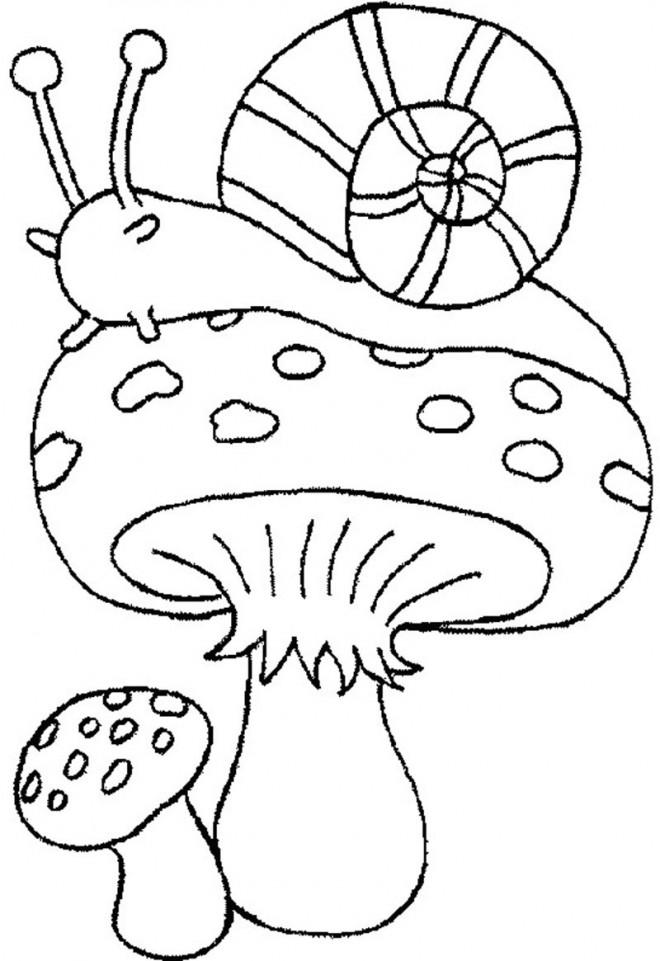 Coloriage Escargot En Automne Dessin Gratuit A Imprimer