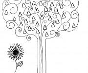 Coloriage et dessins gratuit Fruit d'Automne stylisés à imprimer