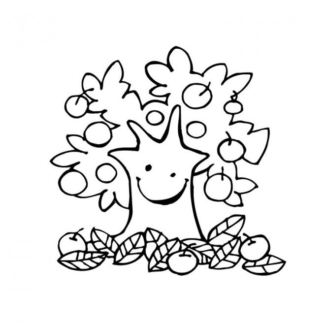Coloriage et dessins gratuits Fruits d'Automne à imprimer