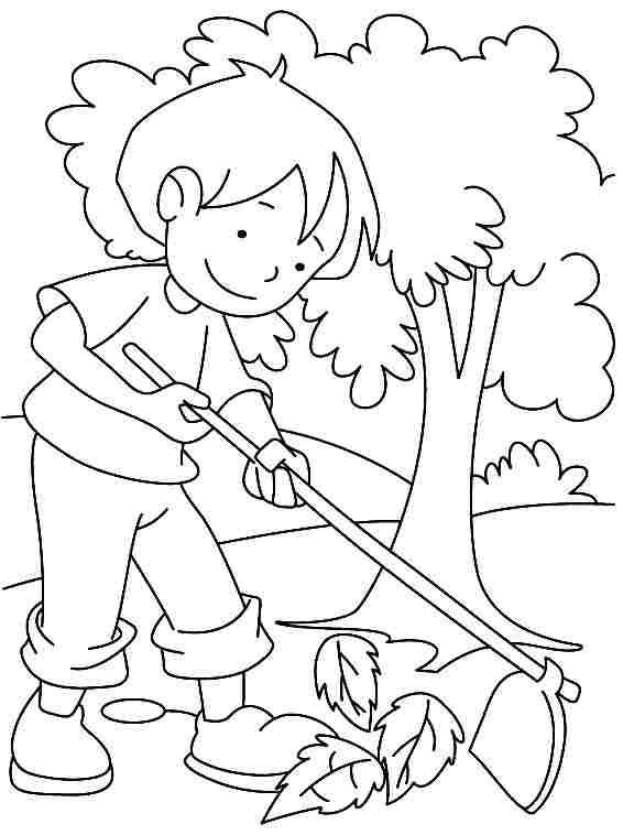 Coloriage et dessins gratuits La fille au Jardin stylisé à imprimer