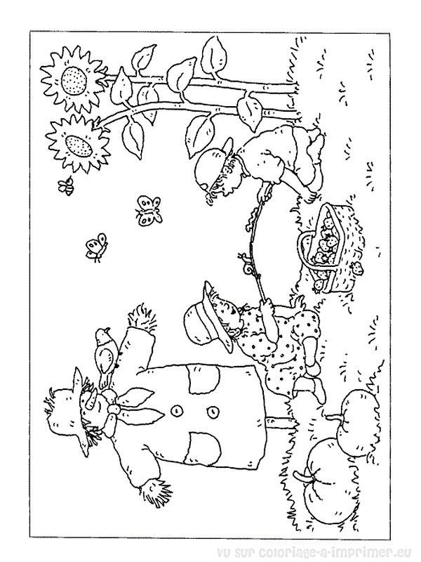Coloriage et dessins gratuits La Nature en Automne à imprimer