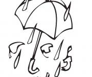 Coloriage La pluie Automne