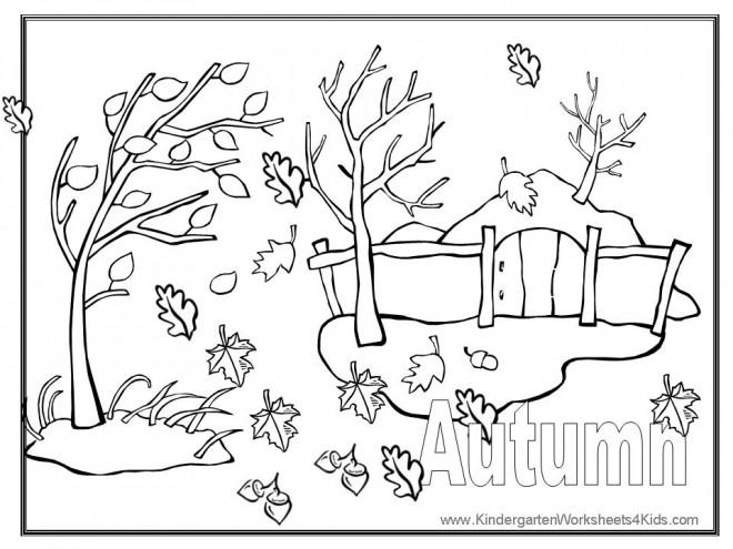 Coloriage et dessins gratuits Le Vent Automne à imprimer
