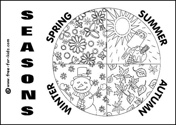 Coloriage et dessins gratuits Les saisons de L'Année à imprimer