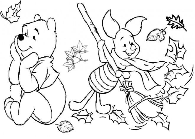 Coloriage et dessins gratuits Ours mignon en Automne à imprimer