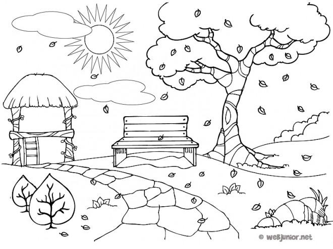 Coloriage et dessins gratuits Park Automne à imprimer