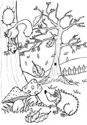 Coloriage et dessins gratuits Saison Automne 45 à imprimer