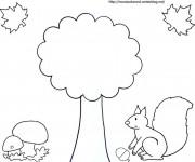 Coloriage et dessins gratuit Saison Automne facile à imprimer