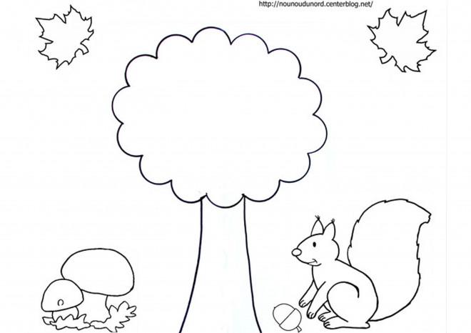 Coloriage et dessins gratuits Saison Automne facile à imprimer