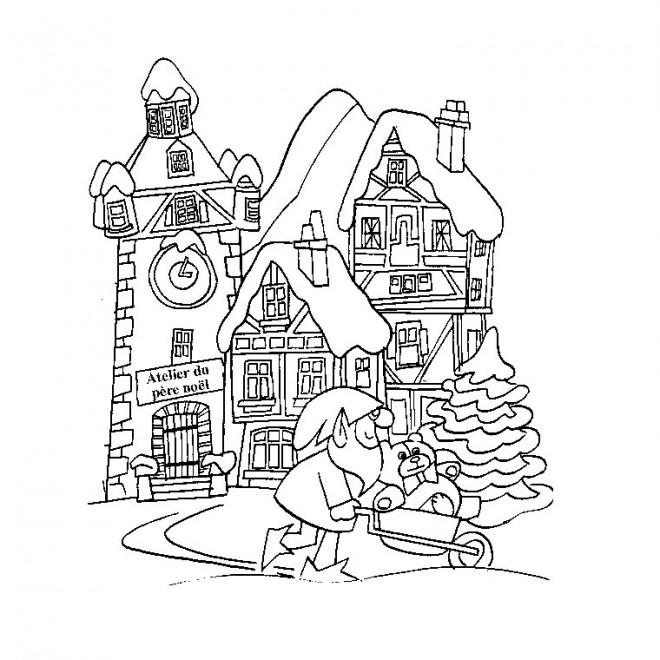 Coloriage adulte paysage d 39 hiver dessin gratuit imprimer - Dessiner un paysage d hiver ...
