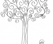 Coloriage et dessins gratuit Arbre en Hiver à imprimer