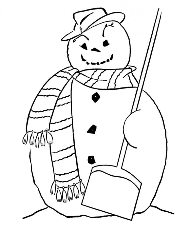 Coloriage et dessins gratuits Bonhomme de Neige de Halloween à imprimer