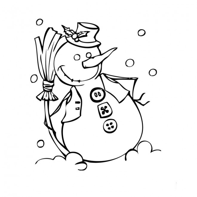 Coloriage bonhomme de neige rigolo dessin gratuit imprimer - Bonhomme de neige a imprimer gratuit ...