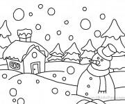 Coloriage et dessins gratuit Hiver Adulte à imprimer