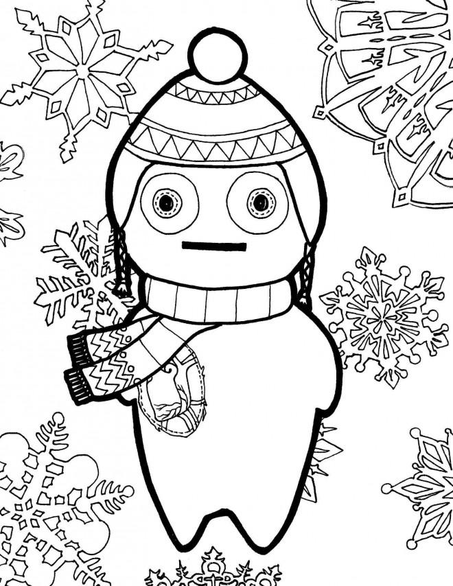 Coloriage et dessins gratuits Hiver Flocon de neige à imprimer