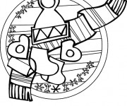 Coloriage Hiver froid facile