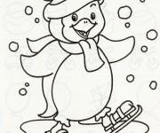 Coloriage et dessins gratuit Hiver Maternelle à imprimer