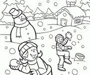 Coloriage dessin  Hiver Maternelle 7
