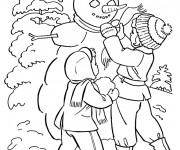 Coloriage dessin  Hiver Neige 11