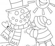 Coloriage dessin  Hiver Neige 19