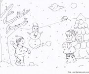 Coloriage dessin  Hiver Neige 7