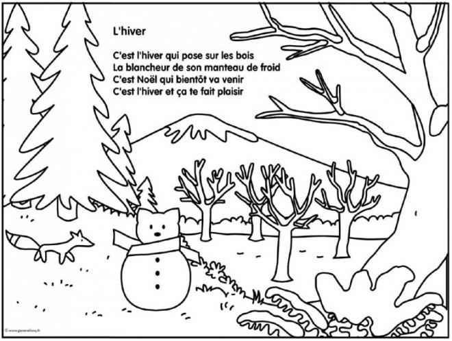 Coloriage et dessins gratuits La Saison Hiver à télécharger à imprimer