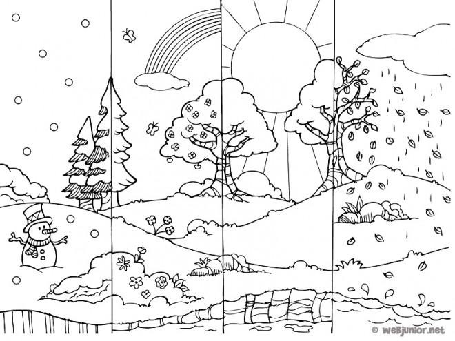 Coloriage et dessins gratuits Saison d'Automne à imprimer