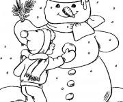 Coloriage et dessins gratuit Saison d'Hiver stylisé à imprimer