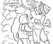 Coloriage et dessins gratuit Saison Hiver à décorer à imprimer