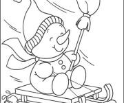 Coloriage et dessins gratuit Saison Hiver pour enfant à imprimer