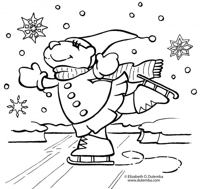 Dessin Skieur Humoristique coloriage skieur humoristique dessin gratuit à imprimer