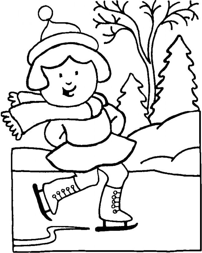 Coloriage et dessins gratuits Skieur Saison Hiver à imprimer