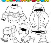 Coloriage Vêtements à colorier et découper
