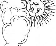 Coloriage et dessins gratuit La Soleil et les Nuages à imprimer