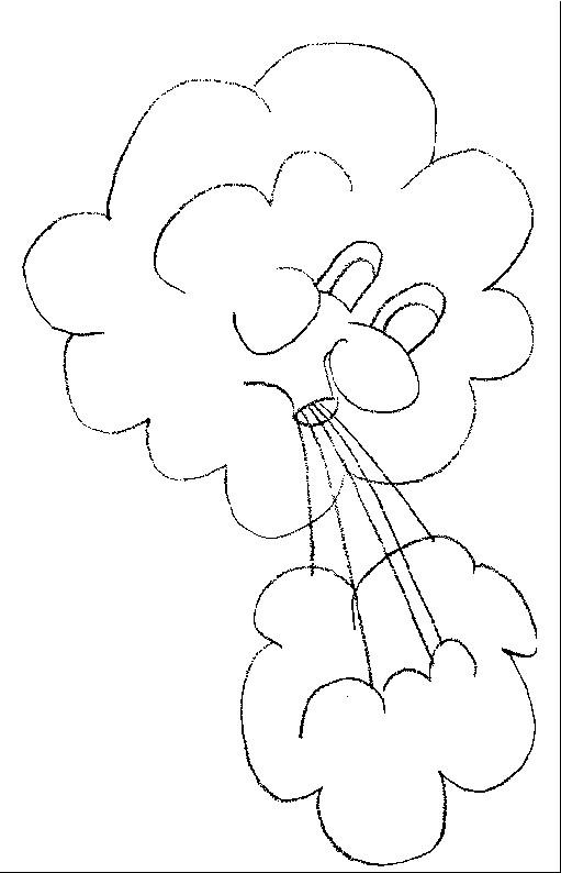 Coloriage et dessins gratuits Les Nuages en soufflant à imprimer