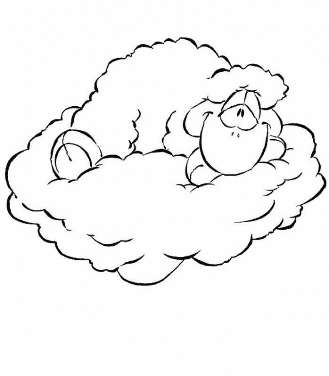 Coloriage et dessins gratuits Mouton sur les Nuages à imprimer