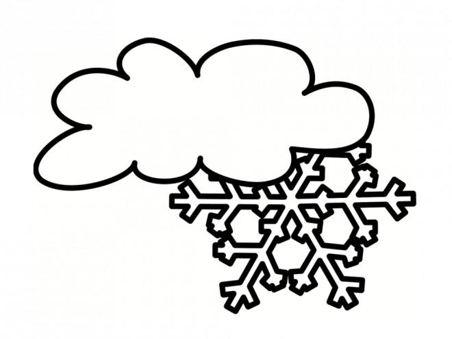Coloriage et dessins gratuits Nuage Neige à imprimer