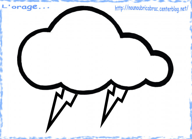 Coloriage nuage pluie dessin gratuit imprimer - Nuage en dessin ...