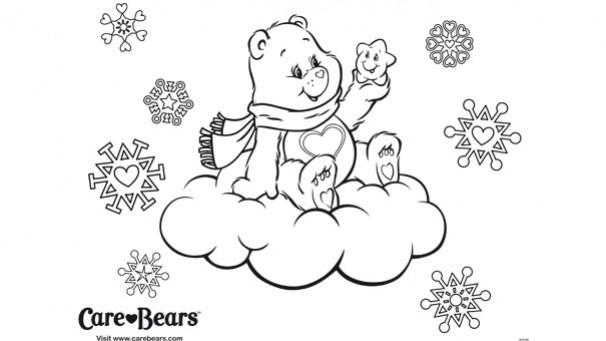 Coloriage et dessins gratuits Ours sur les Nuages à imprimer
