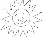 Coloriage et dessins gratuit Soleil brillant à imprimer