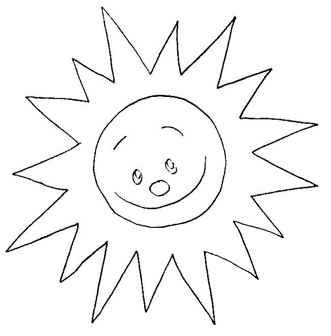 Coloriage et dessins gratuits Soleil brillant à imprimer
