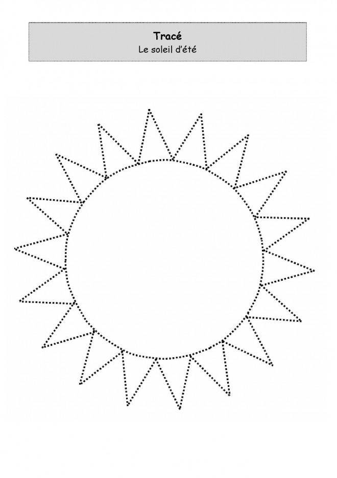 Coloriage et dessins gratuits Soleil d'été à tracer à imprimer