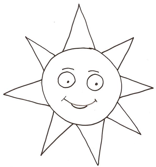 Coloriage soleil en train de sourire dessin gratuit imprimer - Dessin de soleil a imprimer ...