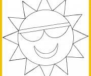 Coloriage Soleil Géométrique