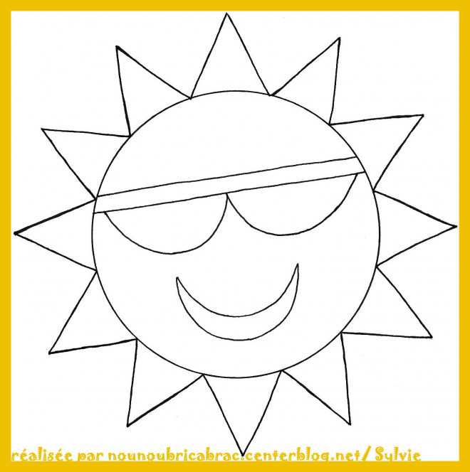 Coloriage et dessins gratuits Soleil Géométrique à imprimer