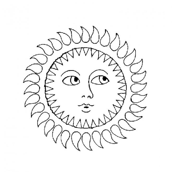 Coloriage et dessins gratuits Soleil Mandala à imprimer
